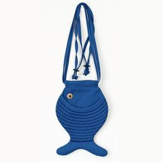 Blue Fish Purse Persian Blue Fish Bag Cross Body Bag by Marewo