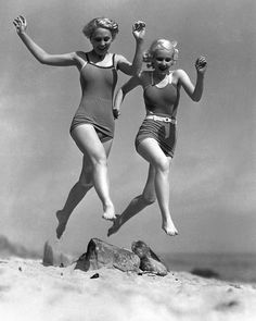 lsie Larson, June Vlasek; publicity still for Fox; Malibu, California; May 25, 1933.