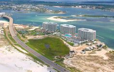 Aerial image of the Caribe's three towers.  Click the link to visit our website and view current Orange Beach, AL homes for sale.  http://www.condoinvestment.com/orange-beach-al-subdivisions.php