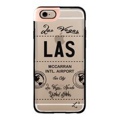 LAS - Las Vegas, NV - Travel The World - iPhone 6s Case,iPhone 6... (165 BRL) ❤ liked on Polyvore featuring accessories, tech accessories, iphone case, clear iphone cases, iphone cases, apple iphone cases and iphone cover case