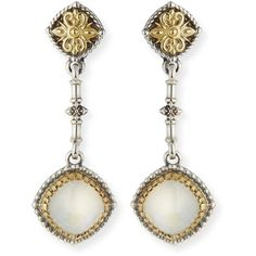 Konstantino Erato Cabochon Drop Earrings ($1,395) ❤ liked on Polyvore featuring jewelry, earrings, amethyst, post drop earrings, konstantino earrings, 18 karat gold jewelry, konstantino and 18k jewelry