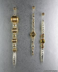 Gold and Silver Icicle Ornaments