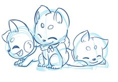 YCH Sushidog *closed* -triptych- by LeniProduction Anime Drawings Sketches, Animal Sketches, Cartoon Drawings, Animal Drawings, Cute Drawings, Figure Drawing Reference, Art Reference Poses, Chibi Dog, Gesture Drawing Poses