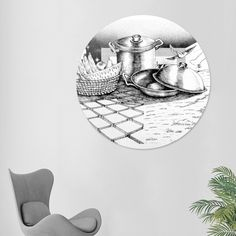 Discover «Natureza morta noite e dia», Limited Edition Disk Print by Marcos…