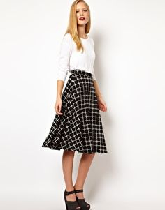 ASOS Midi Skirt In Ponte Check. sold out :( I NEED A SEWING MACHINE.