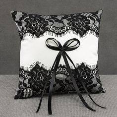 Black Lace Pillow