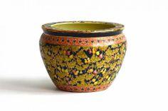 Vintage #ceramic #fish #bowl with #pear decoration, available in #Dallas, #Mecox #interiordesign #MecoxGardens #furniture #shopping #home #decor #design #room #designidea #antiques #garden