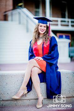 University of Arizona Senior Graduation Grad Photo Portraits Idea Fun Smile Happy Dress Pose Cap Gown