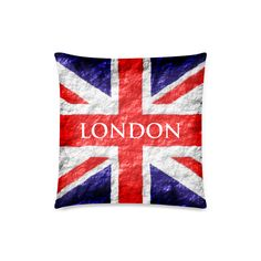 Union Jack Flag Zippered Pillow Case (18x18)