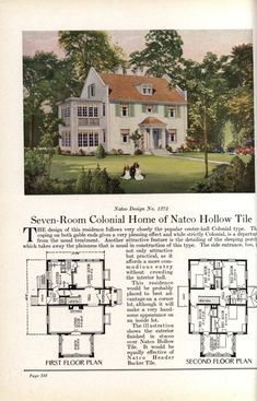 Dream House Plans, House Floor Plans, Center Hall Colonial, Vintage House Plans, Sims House, Old Houses, The Borrowers, Pennsylvania, The Selection