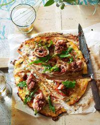 Gorgonzola, Fig and Pancetta Pizza Recipe on Food & Wine