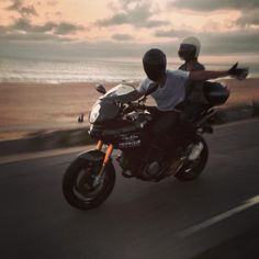 Sunset Crusin' on the C&S Multistrada.