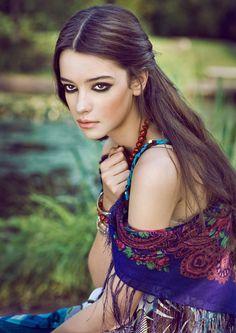 bohemian look - makeup