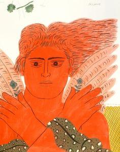 Alecos Fassianos, Pêcheur, lithograph proposed by Galerie Hus for sale on the art portal Amorosart Contemporary Decorative Art, Greek Design, Greek Art, Pin Art, Naive Art, Cool Artwork, Flower Art, Printmaking, Folk Art