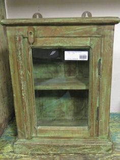 Beau Small Vintage Wall Cabinet  FIND This Item In Store