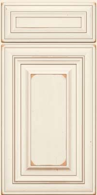 Kraftmaid cabinets square raised panel solid ab1m for Dove white cabinets with cocoa glaze