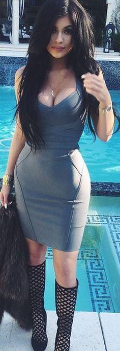 Kylie Jenner: Dress – House of CB Bracelet – Cartier Shoes – Jimmy Choo