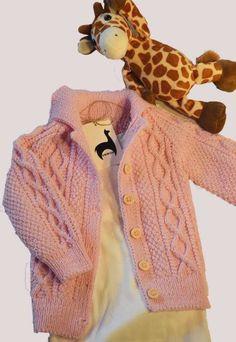 Baby Merino hellrosa Handsricken pullover