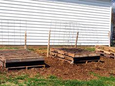 Repurposed Pallet Raised Garden planters -
