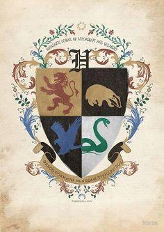 Harry Potter Wallpaper Hogwarts Crest Ravenclaw Logo Hogwarts Seal Hogwarts Founders Hufflepuff