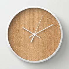 Red Oak Wood Wall Clock