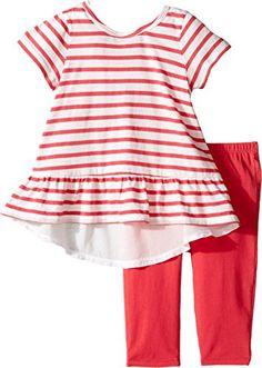 22e1e84013516 Amazon.com: Splendid Baby Girls Stripe Top With Solid Legging Set, pink,  6-12: Clothing