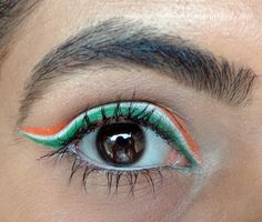 You could do your Team colors.Miami Hurricanes University of Miami Hurricanes Miami Hurricanes Apparel, University Of Miami Hurricanes, U Of M Football, Football Season, Hurricane Party, Heart For Kids, Cute Makeup, Miami Dolphins, Eye Make Up