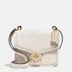 Page Mini Crossbody in Croc Embossed Leather