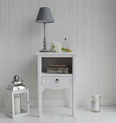cove bay white bedside table from the white lighthouse range of white bedroom furniture in