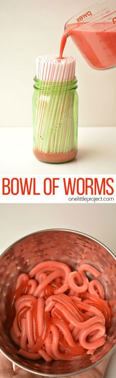 How to Make Jello Worms