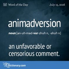Animadiversion