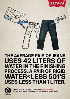 Levis Water-Less, Benefits campaign (Tia Grazette, Illustration by Johnny Lighthands. Fast Fashion, Slow Fashion, Ethical Fashion, Retro Fashion, Brand Advertising, Fashion Advertising, Levis Vintage, Sustainability Projects, Cargo Jeans