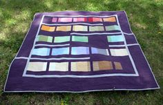 'Plum Kebab' by Jessica Toye creation.  Using charm square solids.   Love the composition.