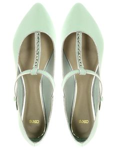 ASOS LOS ANGELES Point Ballet Flats With Chain Detail