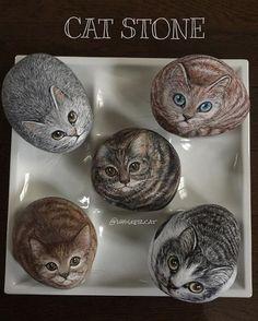 2017.2.17 石猫 cat stone art stone Hand-made #石猫 #catstone #artstone #ハンドメイド
