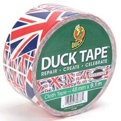 Union Jack Duck Tape by RaindropWallets on Etsy Tapas, Union Flags, British Things, British Invasion, Duck Tape, Tape Crafts, Union Jack, Great Britain, To My Daughter