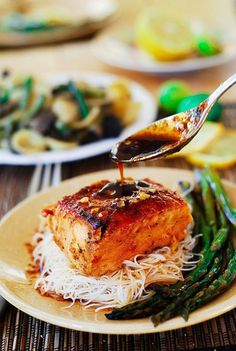 Asian Salmon Recipe :: fabulous. Ate it today and it's delicious!
