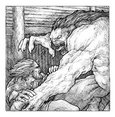 Beowulf vs Grendel by TheFool432.deviantart.com on @deviantART