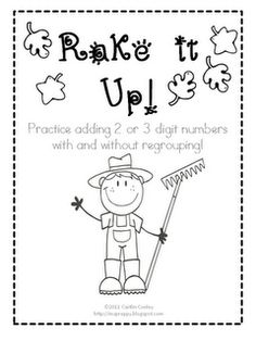 Game to practice adding 2 or 3 digit numbers with and without regrouping