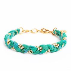 Vintage Sari Bracelet Caribbean now featured on Fab.