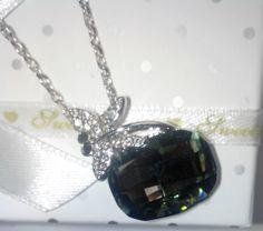 Collier plaqué or blanc et cristal autrichien - CRISTAL/Colliers - mariebelle