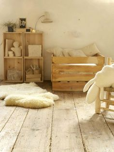 Natural nursery, breathtakingly lovely.  #nursery #decor #estella
