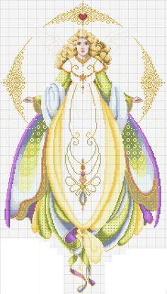 Schema punto croce Angelo Della Salute