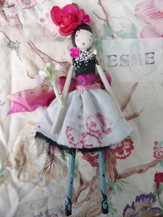 Beautiful handmade fairy, by Sam McKechnie of The Magpie and the Wardrobe. magpiewardrobe.co.uk