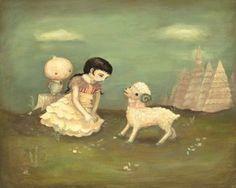 The Little Ram's Tale Print by theblackapple on Etsy
