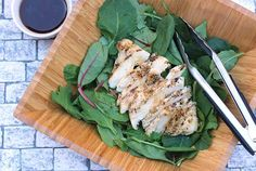 Healthy Lunch Day: Chicken Kale Salad with Fresh Ginger Dressing via @diabeticfoodie