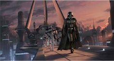 Darth Vader with his Storm Trooper escort, #StarWars