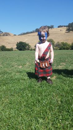 Baby Kilt Highland Games Outfit Halloween Costume by katsnladders