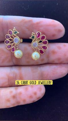 Gold Ring Designs, Gold Bangles Design, Gold Jewellery Design, Jewelry Design Earrings, Gold Earrings Designs, Buy Earrings, Skull Jewelry, Necklace Designs, Diamond Earrings