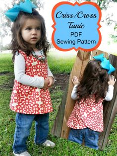 criss cross tunic sewing pattern whimsy couture